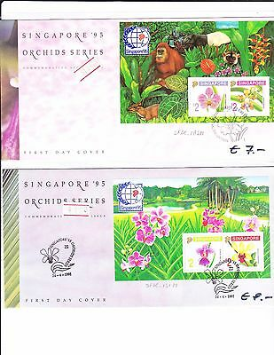 Singapore First Day Covers x 2 - XVIII