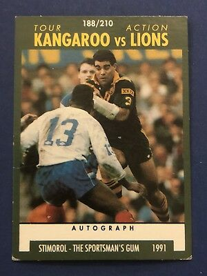 1991 Stimorol Rugby Union Tour Action Kangaroo Vs Lions Card #188