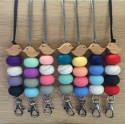 New beaded teacher ID Lanyard Badge Cruise Card Holder Choose Colours Mix Colour