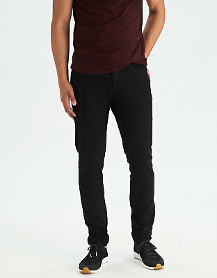 American Eagle Outfitters  AE EXTREME FLEX SLIM TAPER JEAN BLACK STRETCH 32X36