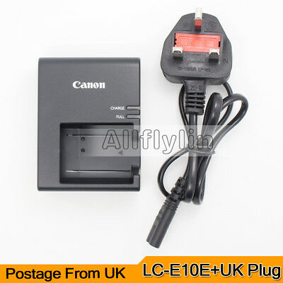 Genuine Original Canon LC-E10E Charger For LP-E10 Battery EOS 1100D Rebel T3 X50