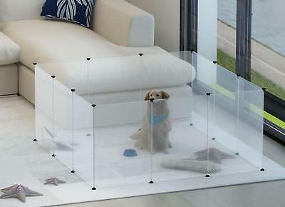 Pet Dog Cat Playpen Portable Exercise Fence Play Cage Crate Kennel Customizable