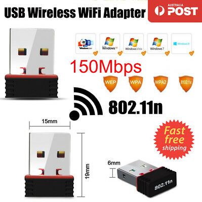 USB WiFi Adapter Nano Wireless 802.11n Network Mini Dongle for PC Laptop 150Mbps
