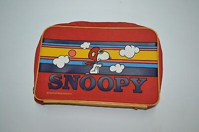 VTG RARE 1965 Fly Snoopy Suitcase Messenger Side Bad Vintage Cartoons 60s 70s 80