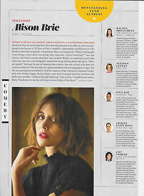 Alison Brie Entertainment Weekly Magazine Article/Clipping June 22, 2018