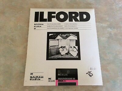 Ilford Multigrade III RC MGX.1M Deluxe Photographic Paper 24 Sheets