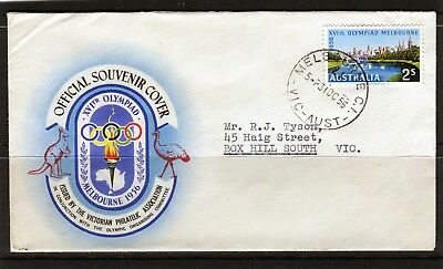 1956 Melbourne Olympics 2/- Addressed First Day Cover, Good Condition