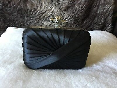 gorgeous dainty black clutch bag, brand new, never used, from Elsie's Attic