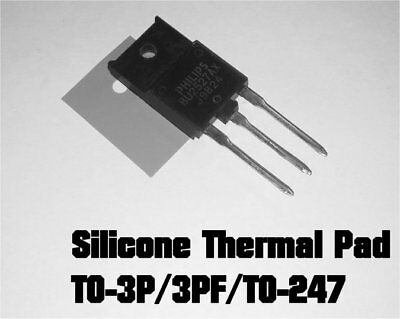 20 x Thermal Insulator Silicone Pads for TO-3P, TO-247, TO-3PF Heatsink