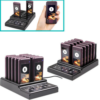 Restaurant Equiment Wireless Guest Paging Queuing System Transmitter w/ 20xPager