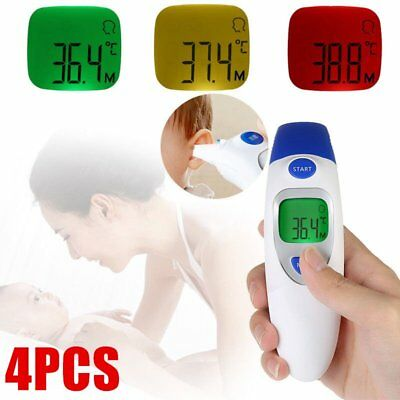4X LCD Digital Forehead Thermometer 3 IN 1IR Infrared Medical Memory Recall KZ