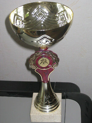 Karate-Pokal goldfarbig