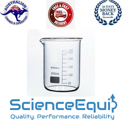 Beaker Glass, LARGE 5 litre PREMIUM BOROSILICATE CHEM LAB