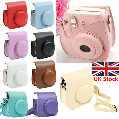 Fujifilm Instax Mini 8 9 Film Camera PU Leather Bag Shoulder Cover Case UK