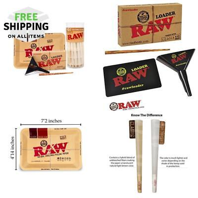 Raw Organic 1 1/4 Pre-Rolled Cones With Filter Tips - Bundle (75 Pack With Mini
