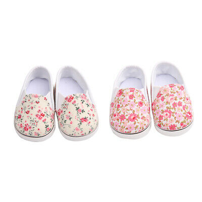Handmade Cloth Shoes Floral Casual Shoes For 18 Inch AG American Doll Dolls
