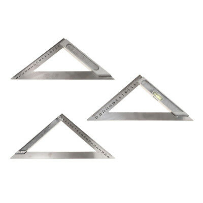 Stainless Steel Square Combination Triangle Ruler Carpenter 150-200mm