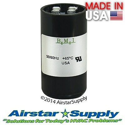 108-130 MFD uf 110-125 VAC Round Electric Motor Start Capacitor • Made in USA