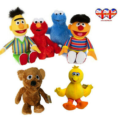 Sesame Street Plush Elmo-Ernie-Bert-Cookie Monster,Official Licensed