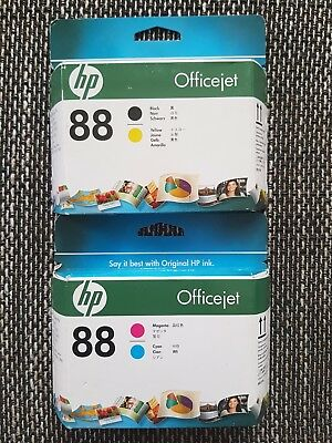 Original HP 88 Druckkopf Black / Yellow C9381A Magenta / Cyan C9382A