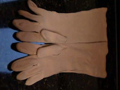 Vintage Long Brown Cotton Gloves Super Soft Cos Play Steampunk-2107