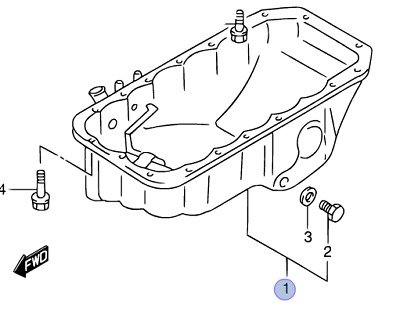 Genuine Suzuki Grand Vitara Gv 05 15 Engine Oil Sump Pan Gaskets X2