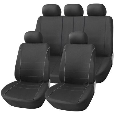 RENAULT SCENIC ALL MODELS LUXURY SEAT COVER SET BLACK /& GREY PIPING