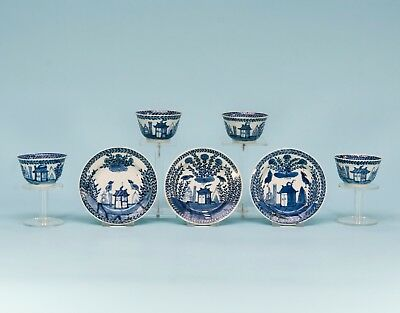 Chinese Blue&white Export Porcelain Tea Ware, Cuckoo On The House Kangxi 18C.