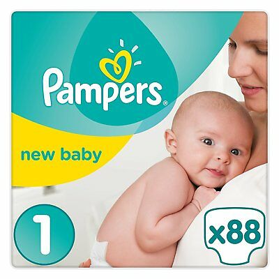 Pampers New Baby Couches Taille 1 2-5 kg Pack Géant x88 Couches Paquets Bébé
