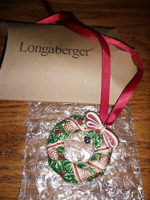 Longaberger Christmas Wreath Basket Tie-On