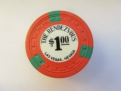 RENDEZVOUS CASINO -  LAS VEGAS,  NEVADA - OBSOLETE CASINO CHIP - 1963 issue