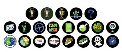 20 x Geocaching Pin Anstecker Buttons FTF Trade SWAG Icon CITO Virtual Wherigo