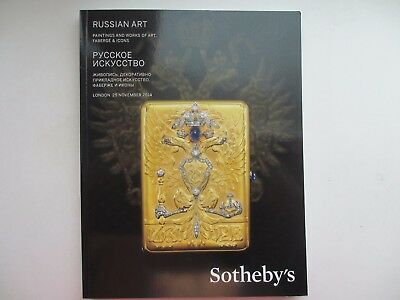 Russian Art paintings, works of art Faberge, icons. Sotheby's London 25 nov 2014