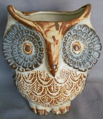 "Vintage Ceramic Owl Planter Approximately 4 1/2"" tall"