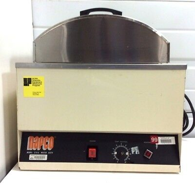 CLEANED & TESTED! NAPCO 210A 2 Gallon Heated Laboratory Water Bath 120V