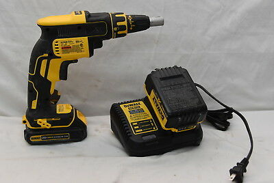 DEWALT DCF620 20V MAX XR Brushless Drywall ScrewGun Kit 2 Batteries and Charger
