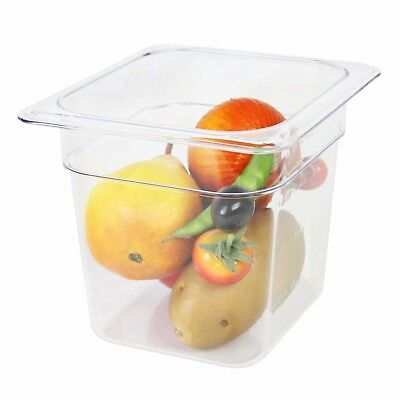 Thunder Group Sixth Size 6-Inch Deep Polycarbonate Food Pan