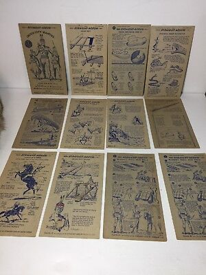 12 - 1950 NABISCO INJUN-UITY Manual Cards Book #2 Cereal Straight Arrow