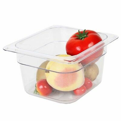Thunder Group Sixth Size 4-Inch Deep Polycarbonate Food Pan