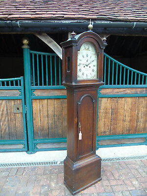 Oak 8 Day Longcase Clock by Richard Wright Witham c.1790. Rare WILSON Fly Dial.