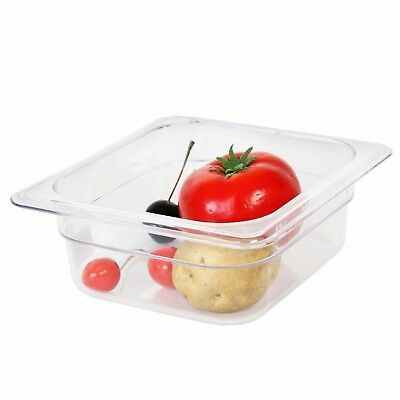 Thunder Group Sixth Size 2-1/2-Inch Deep Polycarbonate Food Pan
