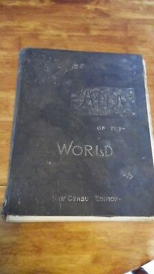 Antique 1917 CRAMS UNRIVALED ATLAS OF THE WORLD Maps, Poor Condition