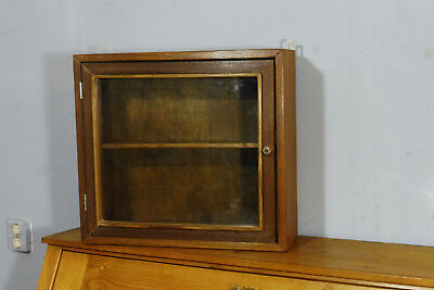 Antique Wall Cabinet In Oak Wood Cupboard Hanging Cabinet Vintage