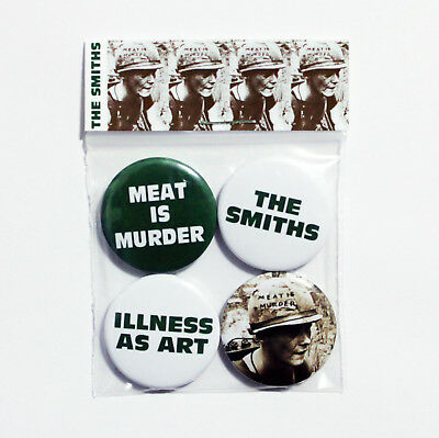 The Smiths Meat Is Murder Badge Pack - 4 Pin Button Badges