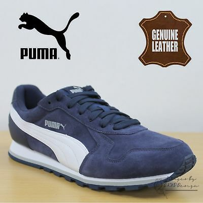 New Puma ST Runner Suede Men's Sports Casual Trainer Shoes Navy rrp £80 On Sale