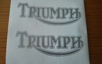 ****TWO X TRIUMPH TANK STICKERS/DECALS  BIKE DECAL**other colours***