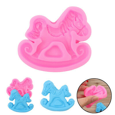 Cute Rocking Horse Reusable Silicone Soap / Fondant Icing / Chocolate Mould