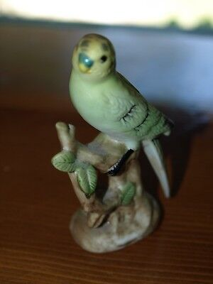 Vintage Ceramic Parakeet Figurine Japan-2218