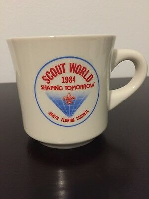 Boy Scouts 1984 Scout World Shaping Tomorrow North Florida Council Coffee Mug