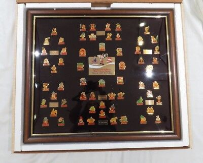 Coca-Cola Salutes Walt Disney World Happy 15th Birthday 60 Pin Framed Set 1986